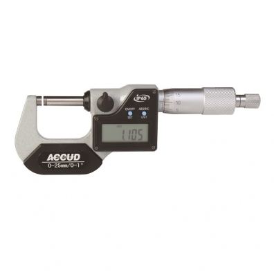 MICROMETRO EXTERIOR DIGITAL IP 65 ACCUD 75 MM - 100 MM , 0.001MM