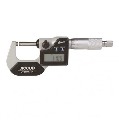 MICROMETRO EXTERIOR DIGITAL IP 65 ACCUD 0 MM - 25 MM , 0.001MM